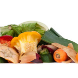 Leftover raw vegetables and peelings