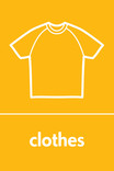 Clothes signage - t-shirt icon (portrait)