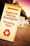 Signs at recycling centre points - Engine Oil Only, Lead Acid Batteries Only