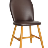 Chair with leather seat