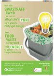 Bangor University food recycling bilingual posters