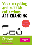 Recycle for London - Restricting Waste - Leaflet A, 4 page, A5 leaflet