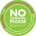 Circular A5 bin sticker - no cardboard