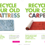 Bulky Waste campaign materials - carpets and mattresses