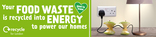 Recycle for London - Food recycling - Apple - Animated and Static Web Banners