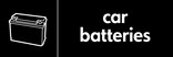 Car batteries signage - Battery icon (landscape)