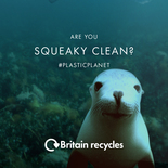 'Are you squeaky clean?' bathroom recycling video - sea lion