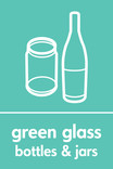 Green glass signage - bottles & jars icon (portrait)