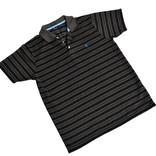Men's striped black polo shirt