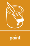 Paint signage - paint pot & brush icon (portrait)