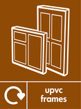 UPVC frames signage - frame icon with logo (portrait)