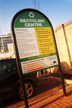 Recycling centre sign - Wandsworth