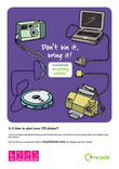 Don't Bin it Bring it - A3 poster for multiple toys