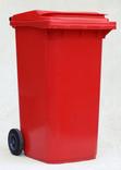 Red wheelie bin
