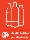 Plastic Bottles (500ml) signage - logo (portrait, English-Welsh)