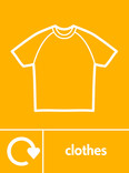 Clothes signage - t-shirt icon with logo (portrait)