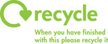 Recycle Mark with general message for printed literature