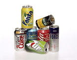 Drinks cans - stacked