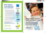 Council business recycling leaflet