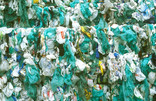 Bale of carrier bags for recycling