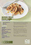 Student-friendly recipe,mixed fruit pancakes