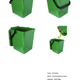 Green food waste kerbside container - show unlocked and locked