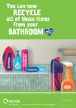 Recycle for London - Good to Know bathroom multi material poster  A4
