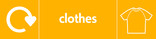 Clothes signage - t-shirt icon with logo (landscape)