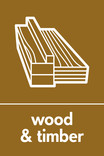 Wood & Timber signage - wood icon (no branch) (portrait)