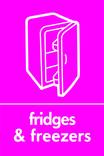 Fridges & Freezers signage - fridge icon (portrait)