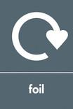 Foil signage - logo (portrait)