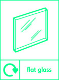 Flat glass signage - pane icon with logo (portrait)
