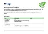 Your Business is Food (Manufacturing) - Walk Around Checklist