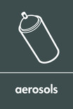 Aerosols signage - spray can icon (portrait)