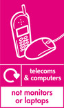 Telecoms & Computers (not monitors or laptops) signage - phone & mouse icon with logo (portrait)