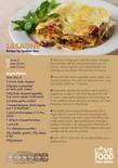Student-friendly recipe,lasagne