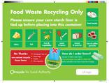 Food waste bin sticker for flats
