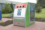 Recycle Now branded bring bank for cans