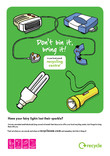 Don't Bin it Bring it - A4 poster for Winter