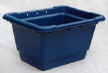 Dark blue recycling container