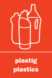 Plastics signage - logo (portrait, Welsh-English)