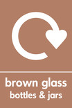 Brown glass signage - logo (portrait)