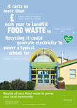 Food recycling - Local benefit A3/A4 poster - School