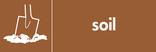 Soil signage - soil icon (landscape)