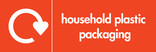 Household plastic packaging (no film) signage - logo (landscape)