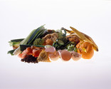 Pile of food waste - with egg shells and meat