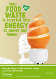 Recycle for London - Food recycling - Orange - A3/A4 poster