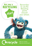 Key stage 1 and 2 recycling poster: recycling star