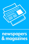 News & magazines signage - newspaper icon (portrait)