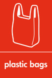 Plastic bags signage - carrier bag icon (portrait)